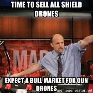 Jim Kramer Mad Money Karma - Time to Sell all shield drones Expect a bull market for gun drones