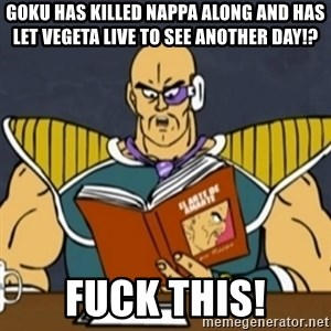 El Arte de Amarte por Nappa - Goku has killed nappa along AND has let vegeta live to see another day!? FUck this!