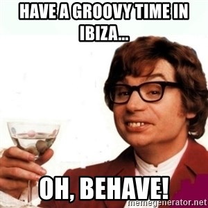Austin Powers Drink - Have a groovy time in ibiza... Oh, behave!