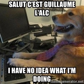 I have no idea what I'm doing - Dog with Tie - Salut C'est Guillaume L'alc I Have No Idea What I'm doing