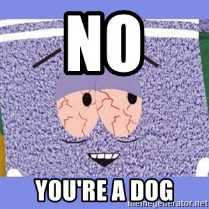 Towelie - no you're a dog