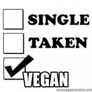 single taken checkbox -  Vegan