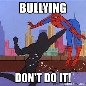 crotch punch spiderman - Bullying DON't DO IT!