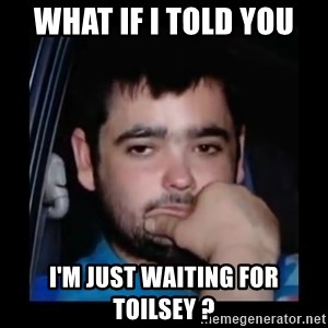 just waiting for a mate - What if I told you I'm just waiting for toilsey ?