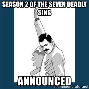 Freddy Mercury - season 2 of the seven deadly sins announced