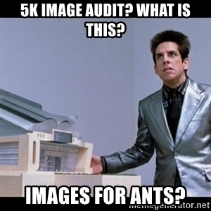 Zoolander for Ants - 5k Image audit? What is this? Images for ants?