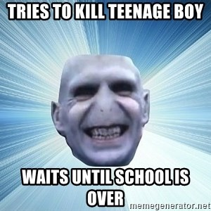 vold - tries to kill teenage boy waits until school is over
