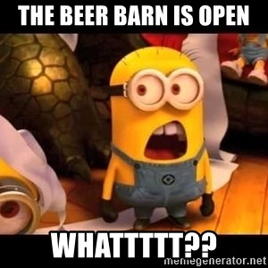 minion what - the beer barn is open whattttt??