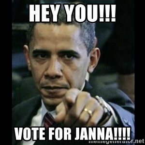 obama pointing - Hey You!!! Vote for Janna!!!!