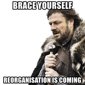 Winter is Coming - BRACE YOURSELF REORGANISATION IS COMING