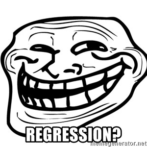 Problem Trollface -  Regression?