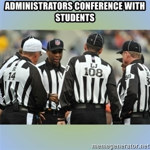 NFL Ref Meeting - administrators conference with students