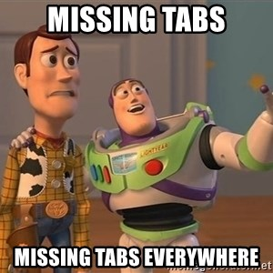 Anonymous, Anonymous Everywhere - Missing tabs Missing tabs everywhere