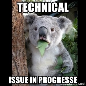 Koala can't believe it - technical ISSUE IN PROGRESSE