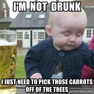 Bad Drunk Baby - I'm  not  drunk i just need to pick those carrots off of the trees