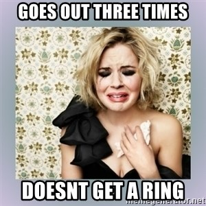 Crying Girl - Goes Out three times Doesnt get a ring