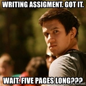 Disturbed David - writing assigment. got it. wait. FIVE pages long???