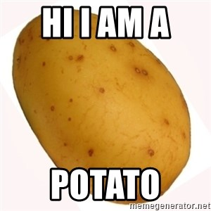 potato meme - hi I am a  potato