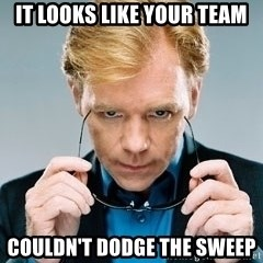 David Caruso CSI - It looks like your team Couldn't Dodge the sweep