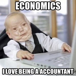 Working Babby - ECONOMICS I LOVE BEING A ACCOUNTANT