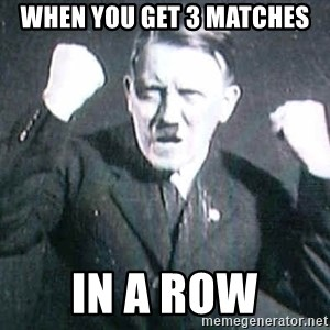 Successful Hitler - When you Get 3 matches In a row
