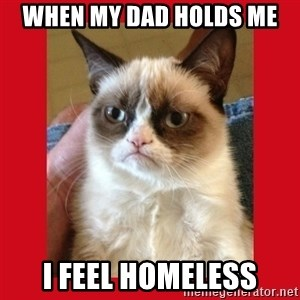 No cat - WHEN MY DAD HOLDS ME I FEEL HOMELESS