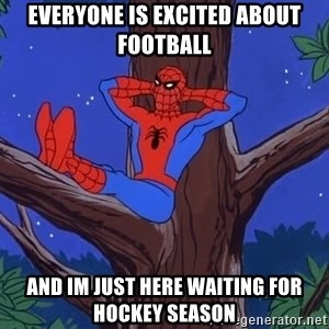 Spiderman Tree - everyone is excited about football and im just here waiting for hockey season