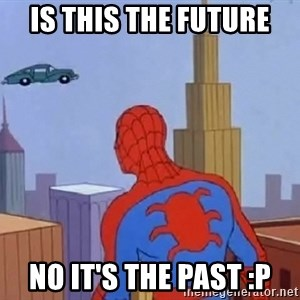 Spiderman Flying Car - Is this the future No it's the past :P