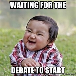 evil toddler kid2 - Waiting for the Debate to start
