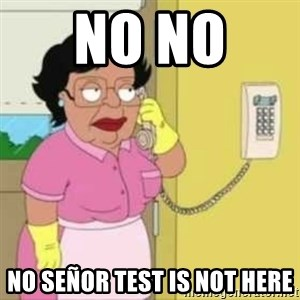 Family guy maid - no no  no señor test is not here