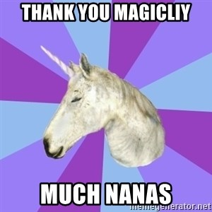 ASMR Unicorn - Thank you magicliy Much nanas