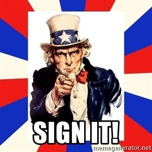 uncle sam i want you - SIGN IT!
