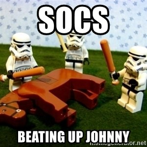 Beating a Dead Horse stormtrooper - Socs  beating up Johnny