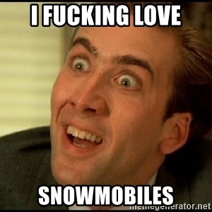 You Don't Say Nicholas Cage - I Fucking Love Snowmobiles