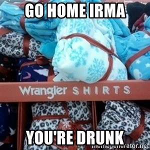 GO HOME--You're Drunk  - Go home irma You're drunk