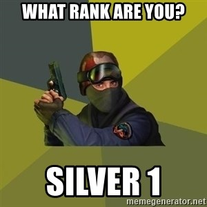 Counter Strike - What rank are you? silver 1