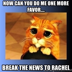 puss in boots eyes 2 - Now can you do me one more favor.... break the news to Rachel