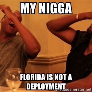 Jay-Z & Kanye Laughing - MY NIGGA Florida is not a deployment