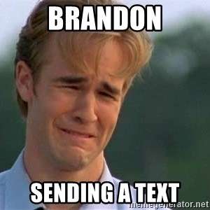 James Van Der Beek - Brandon Sending a text