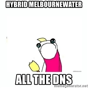 sad do all the things - hybrid melbournewater all the dns