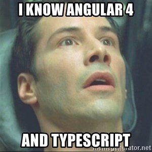 i know kung fu - I know Angular 4 And Typescript