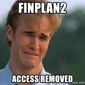 James Van Der Beek - Finplan2 access removed
