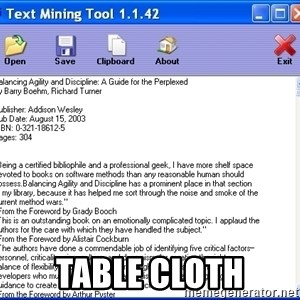 Text - TAble CLoth