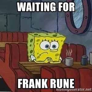 Coffee shop spongebob - Waiting for frank rune