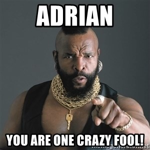Mr T Fool - Adrian You are one crazy fool!