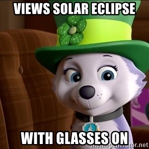 Good Luck Everest  - Views solar eclipse With glasses on