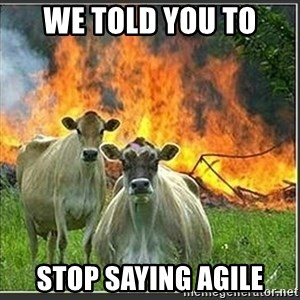 Evil Cows - We told you to stop saying agile