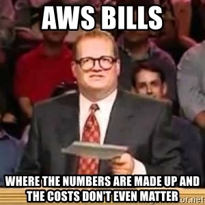 The Points Don't Matter - AWS bills WHERE THE NUMBERS ARE MADE UP AND THE COSTS DON'T EVEN MATTER
