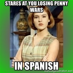 Donya Angelica - Stares at you losing penny wars In Spanish