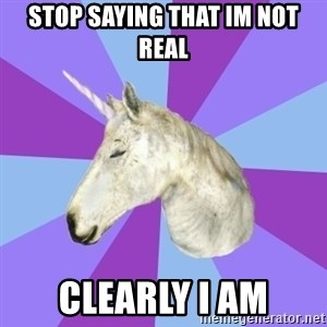 ASMR Unicorn - Stop saying that Im not real Clearly I am